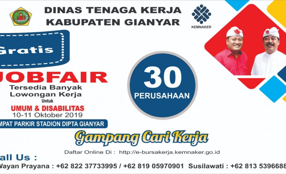 Job Fair Gianyar Oktober 2019
