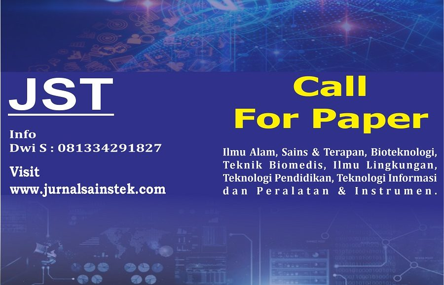 Call For Paper – Jurnal Sains dan Teknologi. Vol. 2 No 1 2020