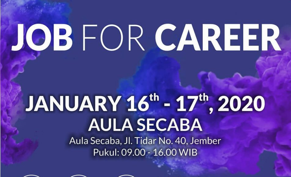 "Jember Job Fair ""JOB FOR CAREER"" Januari 2020"