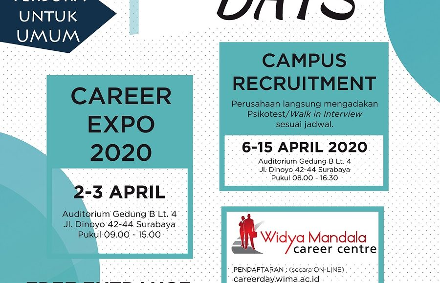 Career Days I Unika Widya Mandala Surabaya April 2020