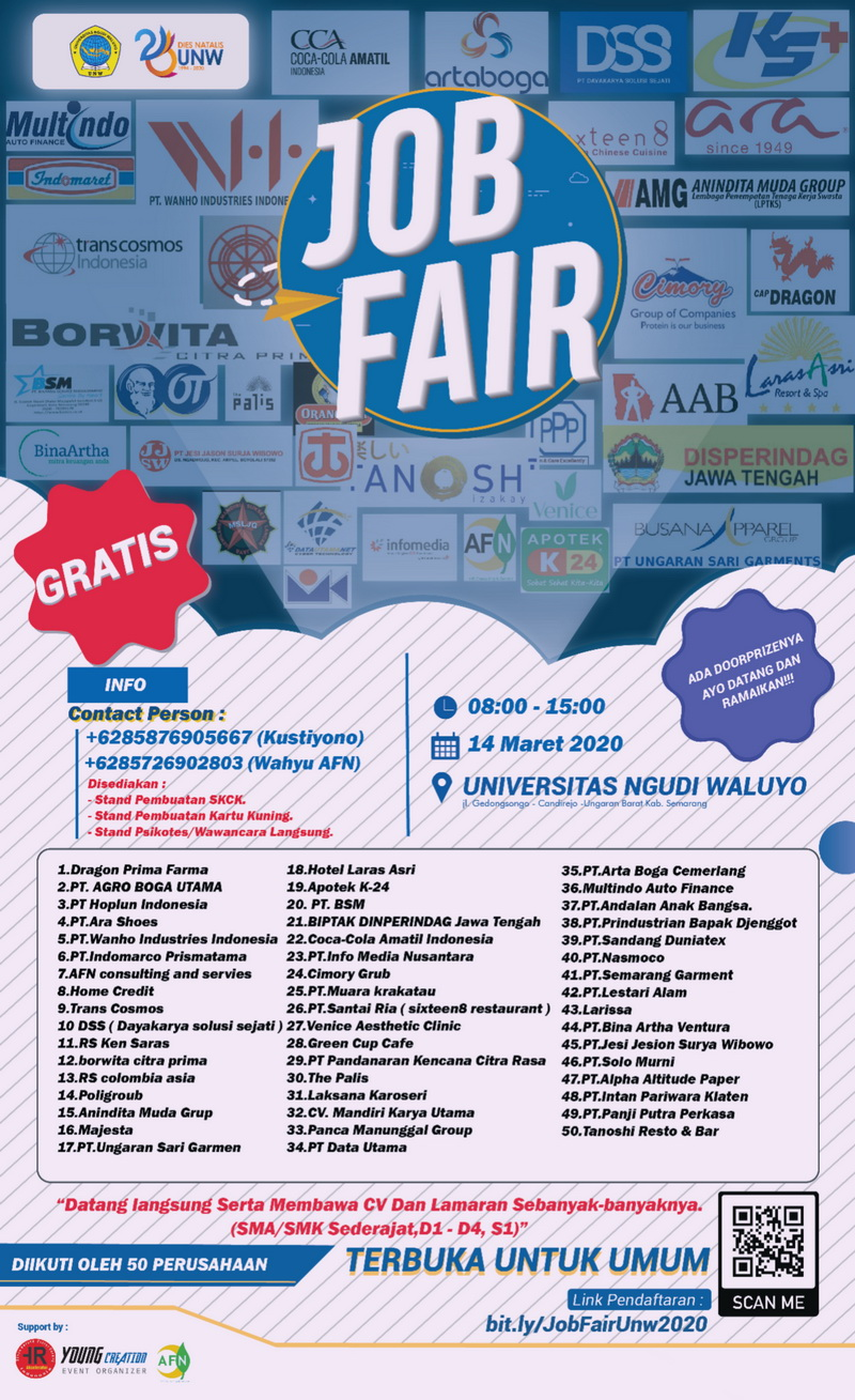 Job Fair Universitas Ngudi Waluyo Maret 2020