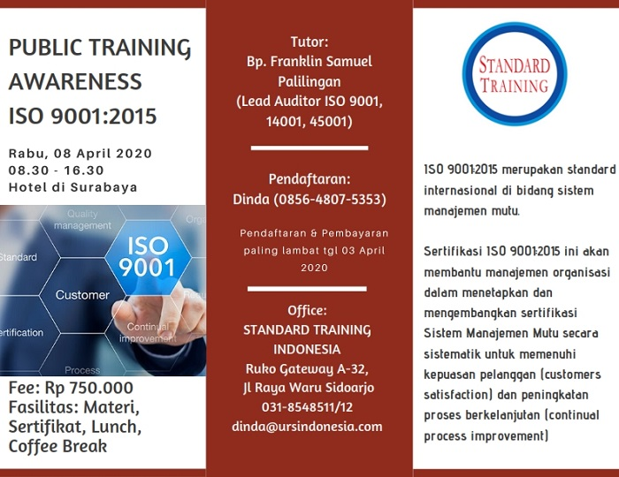 Public Training Awareness ISO 9001_2015